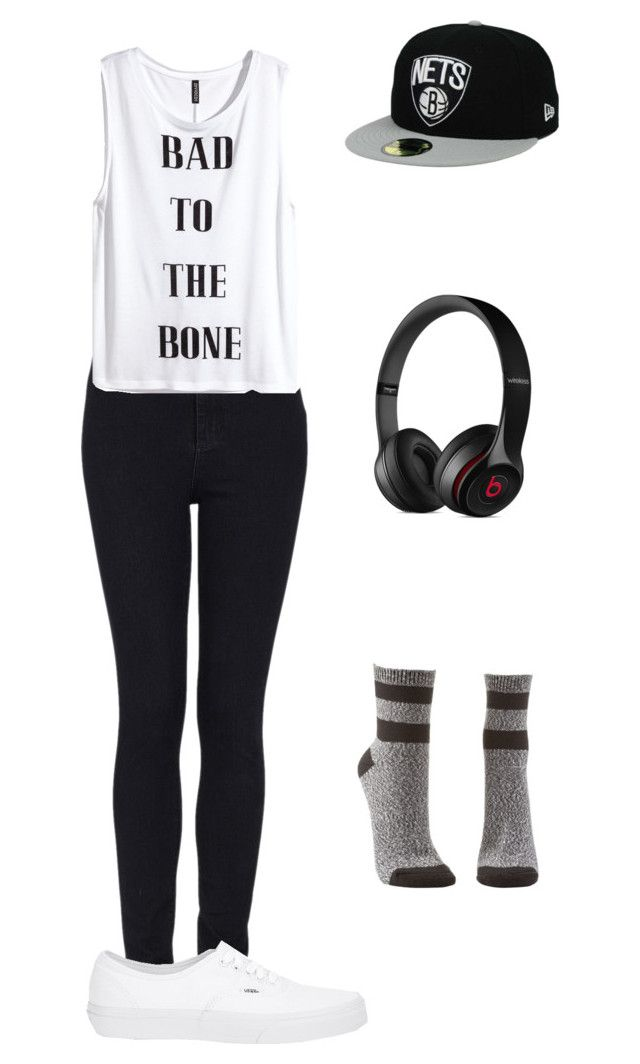 """""""Shinee View"""" by yuki-akemi ❤ liked on Polyvore featuring Topshop, Charlotte Russe, Vans, Beats by Dr. Dre and H&M"""