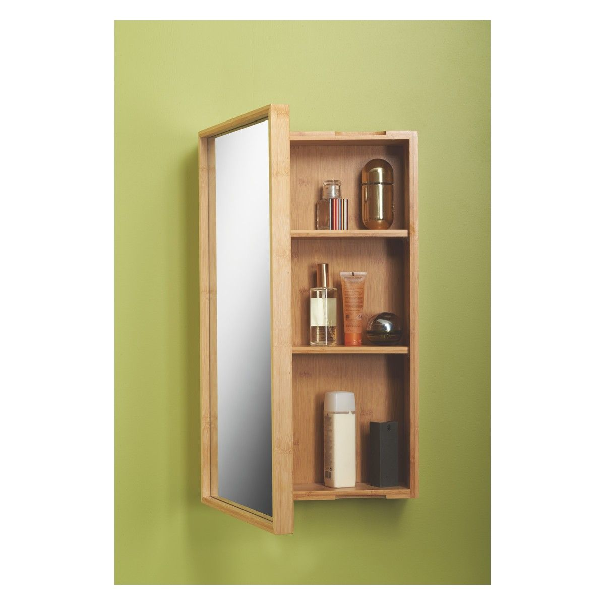 TAIO Bamboo single mirrored bathroom cabinet | New house - guest ...