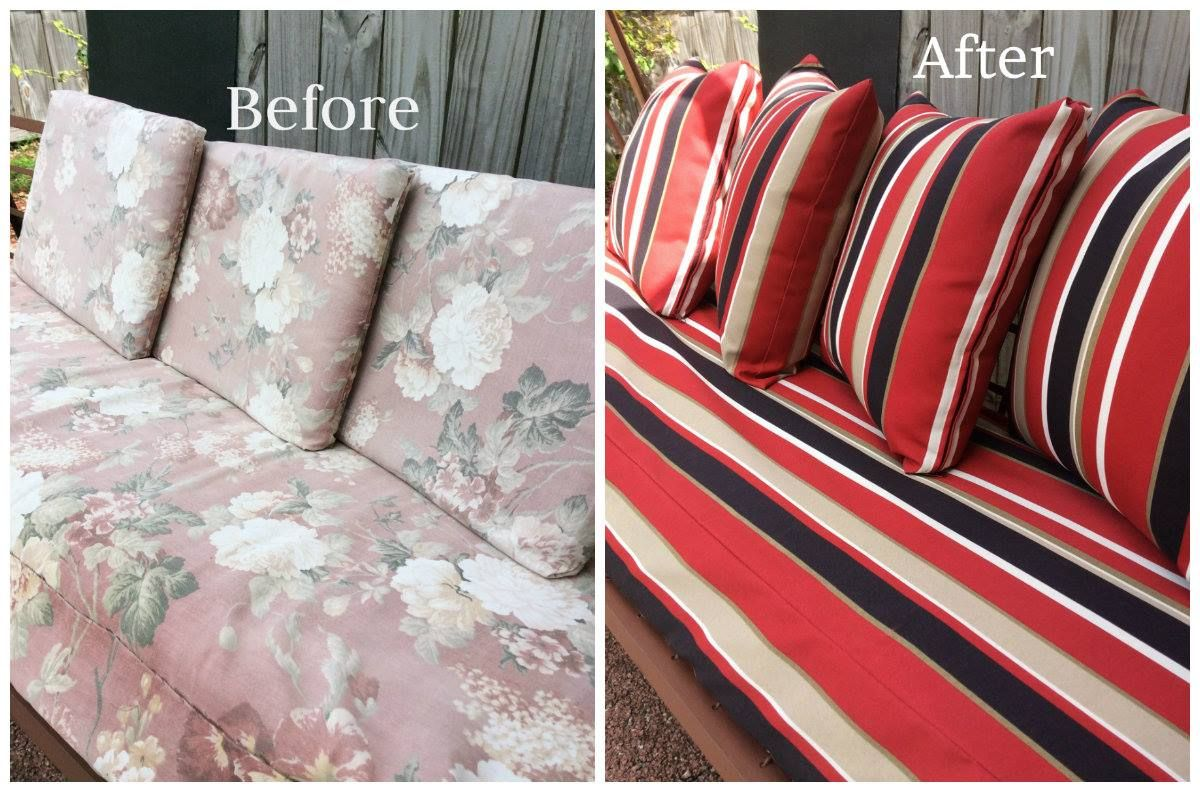 Think the pictures speak volumes I am extremely happy with the look & quality of the fabric for my glider which makes it look brand new! Your customer service reps were professional & courteous when I called to say I needed 2 more beautiful cushions to complete the set & didnt have to pay for shipping which was helpful. All I can say is thank you again for this amazing transformation, I couldnt be happier.-Saralee K *Saralee selected the Weatherall Jamaica #317 for her Pillow and Cushion…