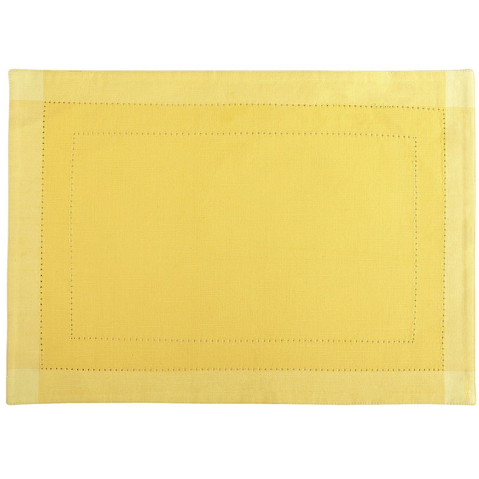 Hemstitch Yellow Placemat Pier 1 Imports 2 Yellow Placemats Placemats Turquoise Kitchen Decor