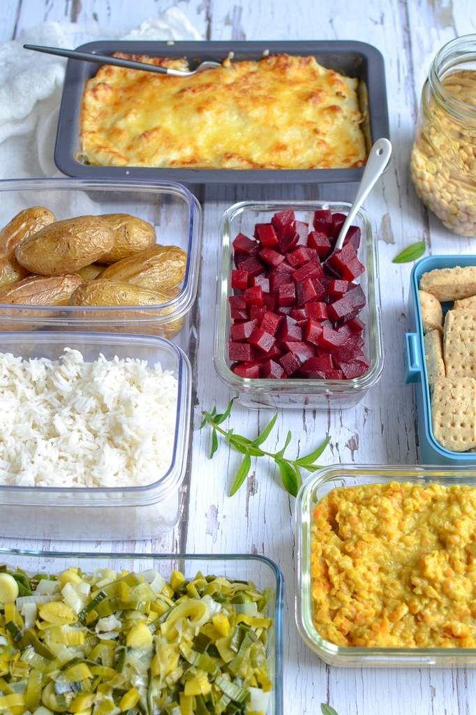 Batch cooking : je prépare mes menus végétariens pour la semaine #menus