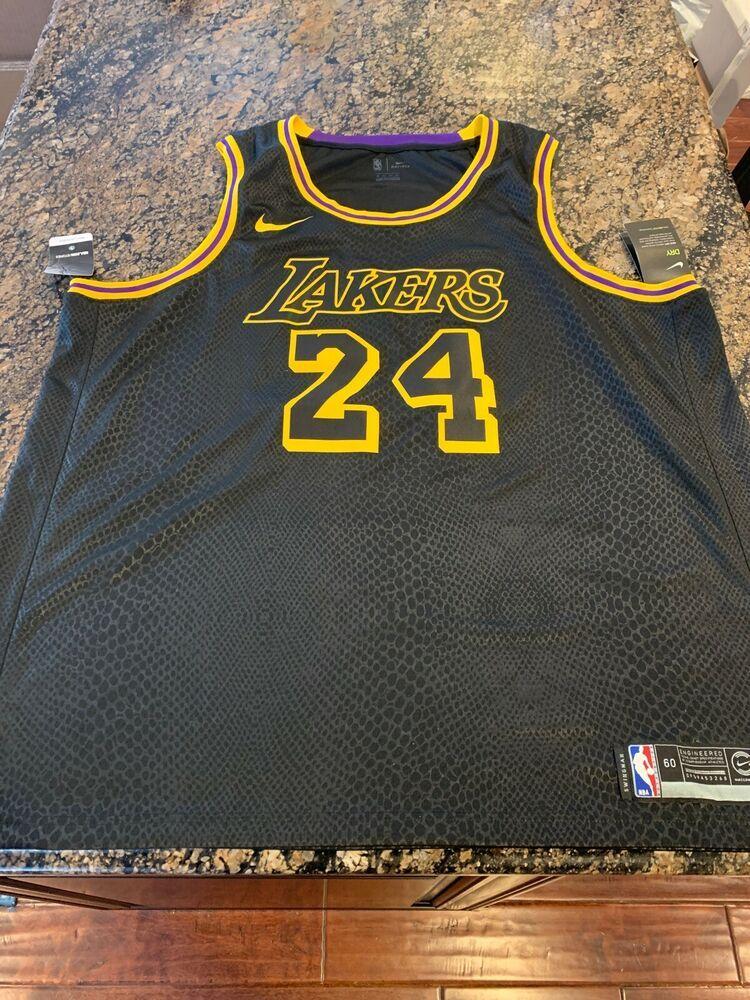 Kobe Bryant La Lakers Black Mamba City Swingman 24 Jersey Aj6432 011 Sz 60 3xl Nike Losangeleslakers In 2020 Black Nikes Kobe Bryant La Lakers Mens Outfits