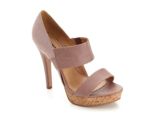 {nude platform sandal} love the cork detail & double strap!