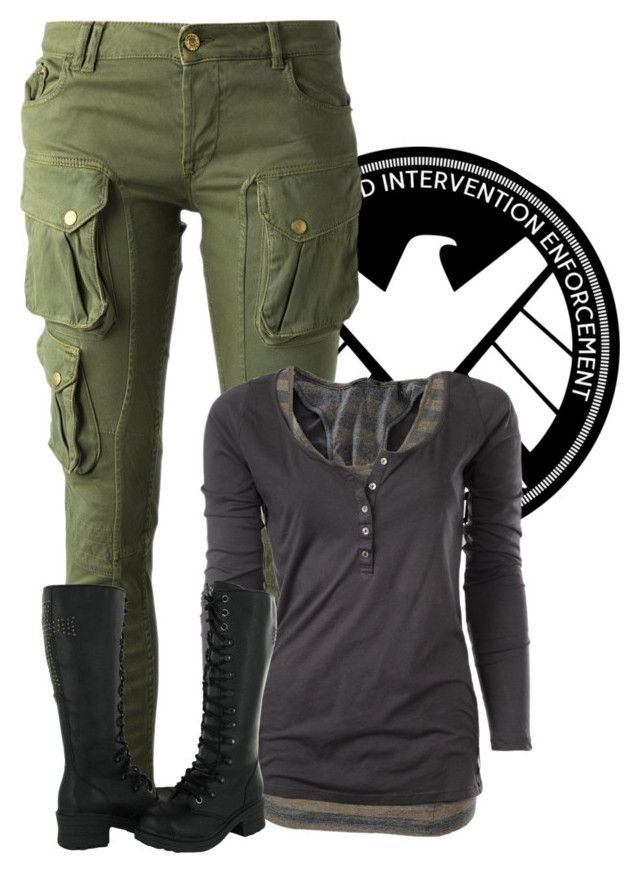 """Me As: Agent of Shield"" by samanthahac ❤ liked on Polyvore featuring CYCLE and Maison Scotch"