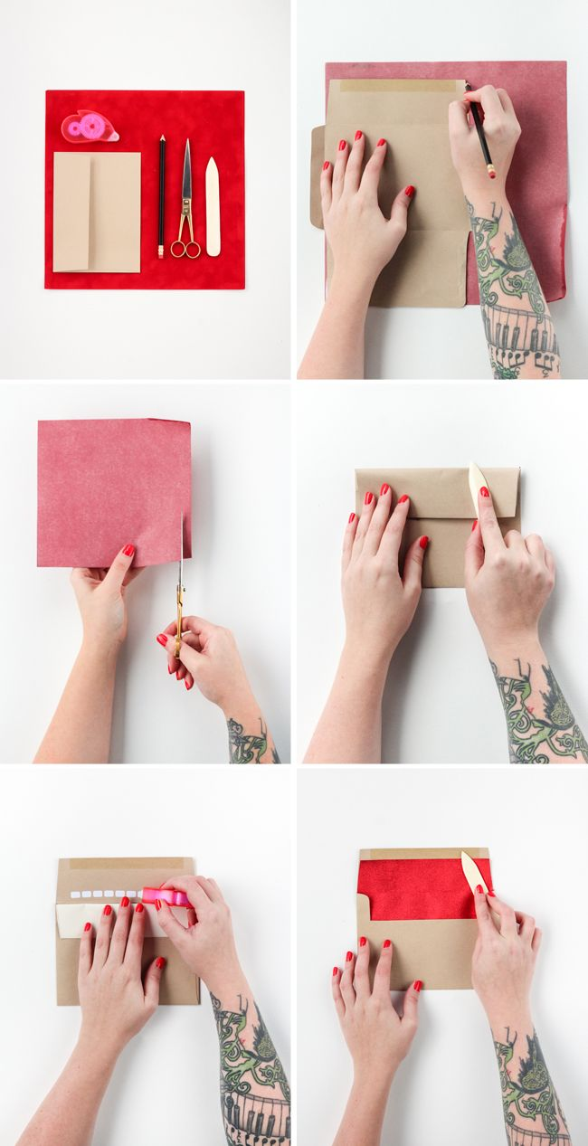 How to Line Envelopes  - The Crafted Life
