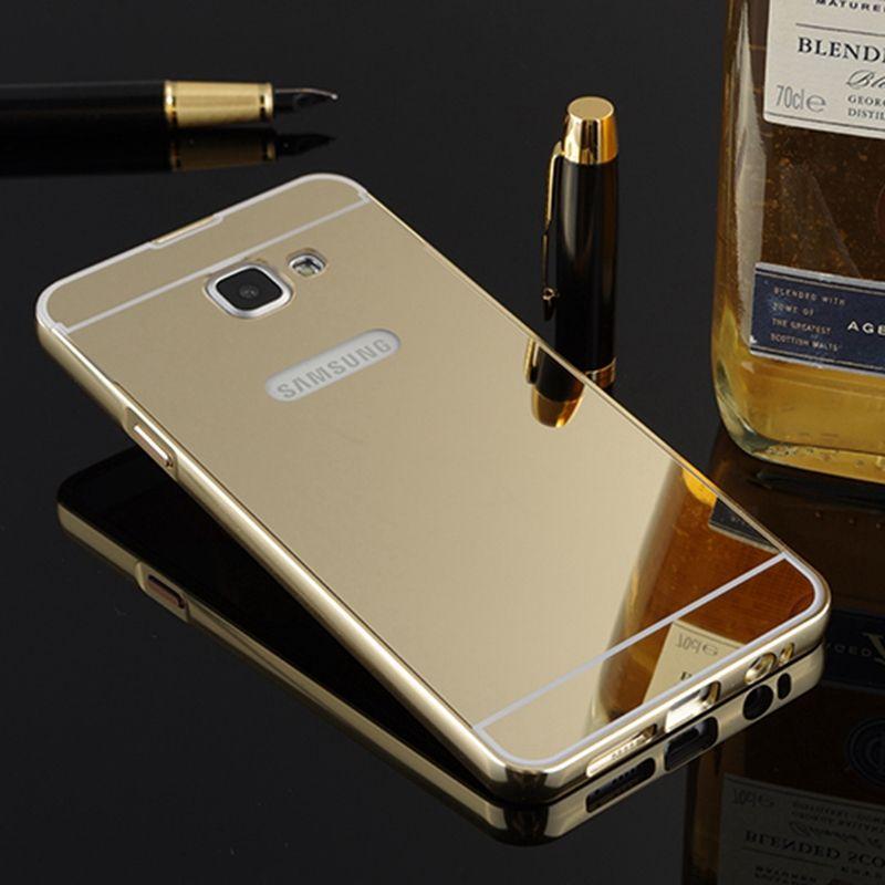 For Samsung Galaxy A3 2017 Case Mirror Metal Bumper Acrylic PC ...