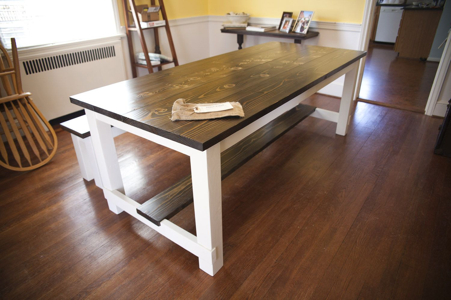 7ft Farmhouse Table Style. Kitchen Table / Dining Table By EmmorWorks.  Hand Crafted