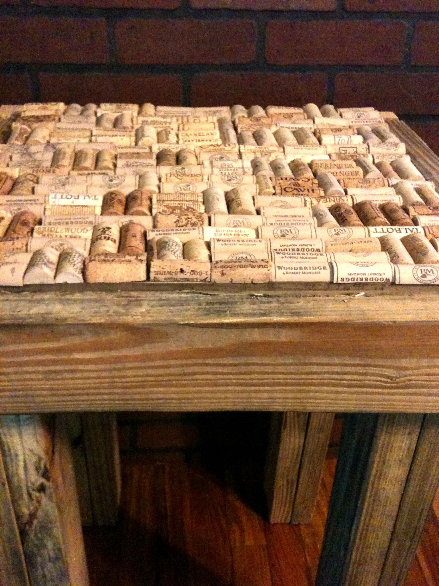 Pallet Wood Cork End Table 1001 Pallets
