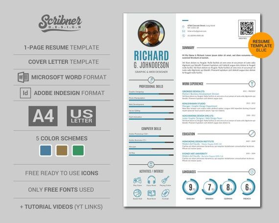 Simple Infographic Resume Template Cv Template Plus Free Cover Letter 3 Color Schemes Infographic Resume Infographic Resume Template Simple Cover Letter