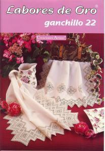 Labores de Oro Ganchillo No 22  Doilies, bedspreads, and filet crochet.