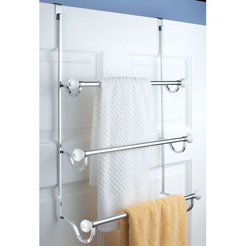 Small Space Living Hacks Towels Doors And Bath - Hanging bath towels for small bathroom ideas