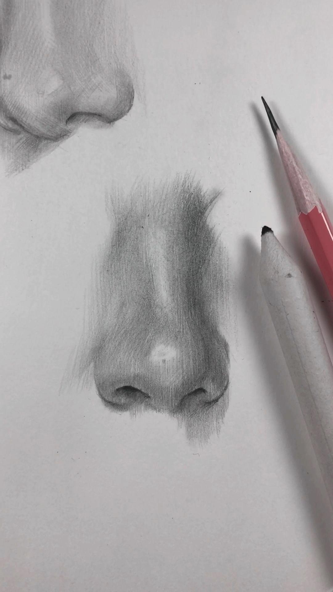 Como Saco La Napias In 2020 Nose Drawing Pencil Art Drawings Art Drawings Sketches