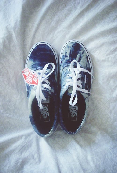 shoes vans blue ocean cute sneakers tie dye hipster swaggi swag ombre  bleach dye vans off the wall tye tie bleach bleach dye dope denim acid.