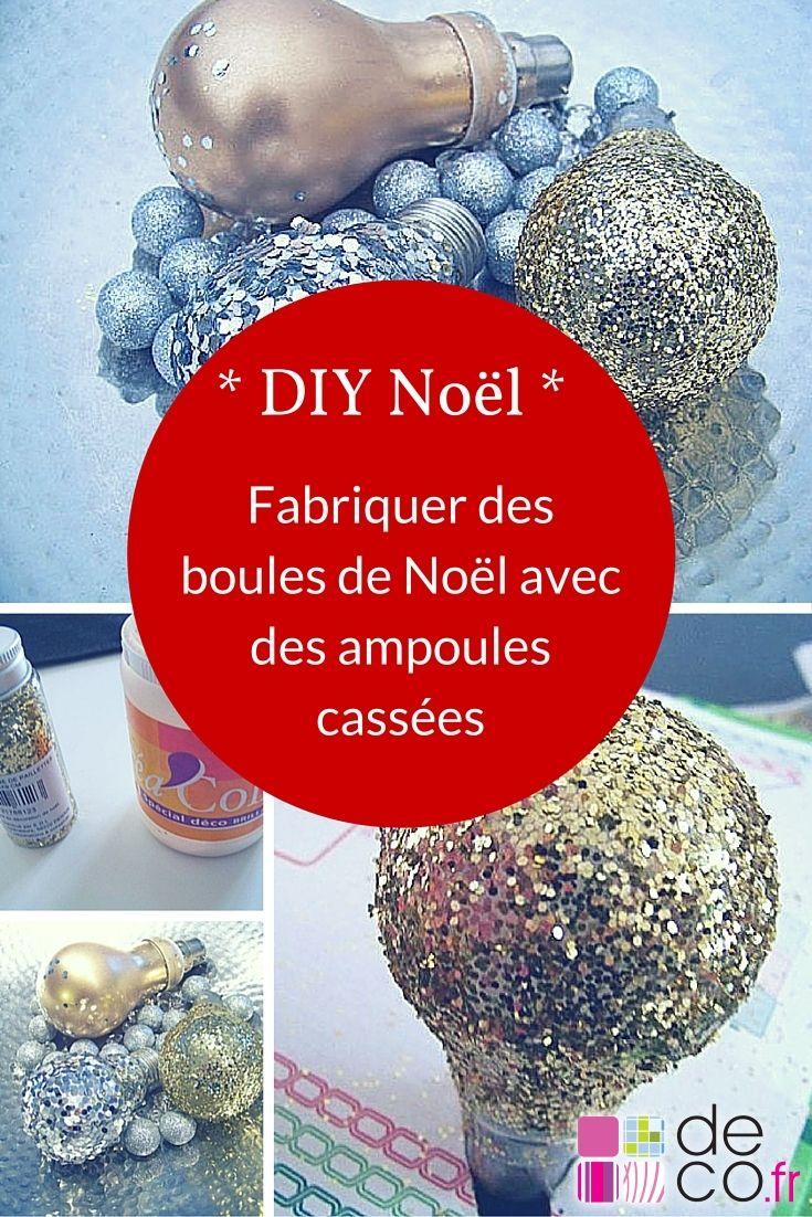 Tuto : fabriquer des boules de Noël avec des ampoules cassées