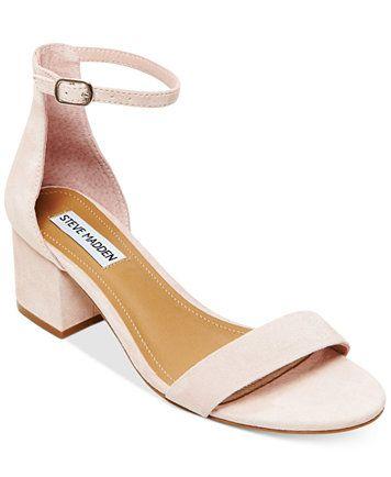 3178fe1103b Steve Madden Women s Irenee Two-Piece Block-Heel Sandals - Sandals - Shoes  - Macy s
