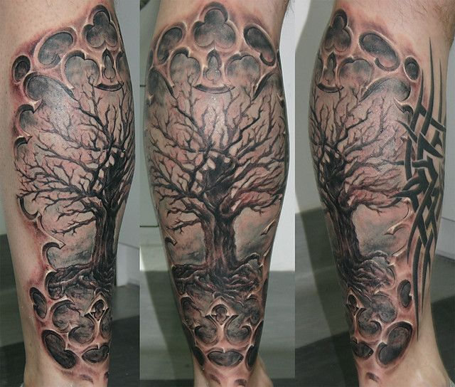 Dead tree tattoos on pinterest tree tattoos trees and for Death tree tattoo