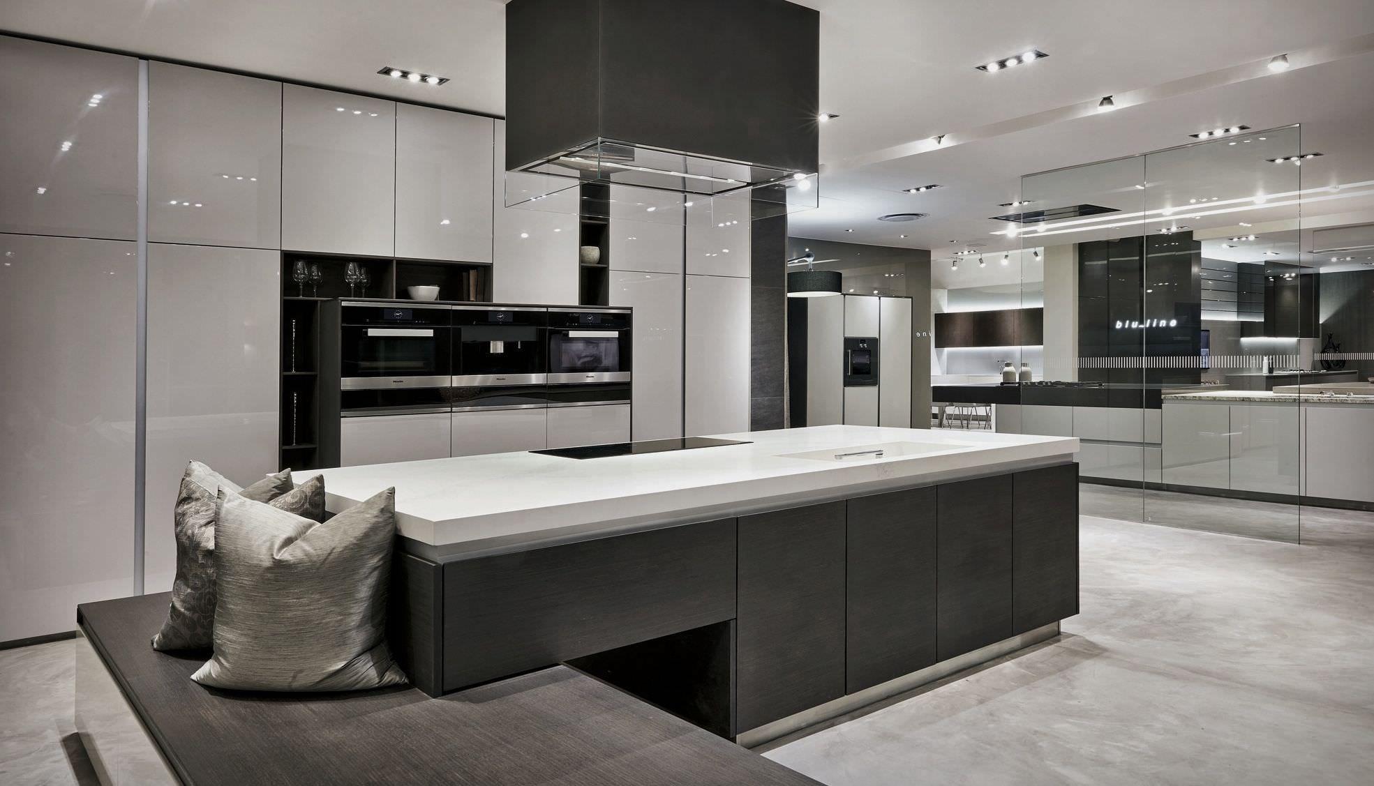 Showroom Open Plan Kitchen Living Room Kitchen Showroom Luxury