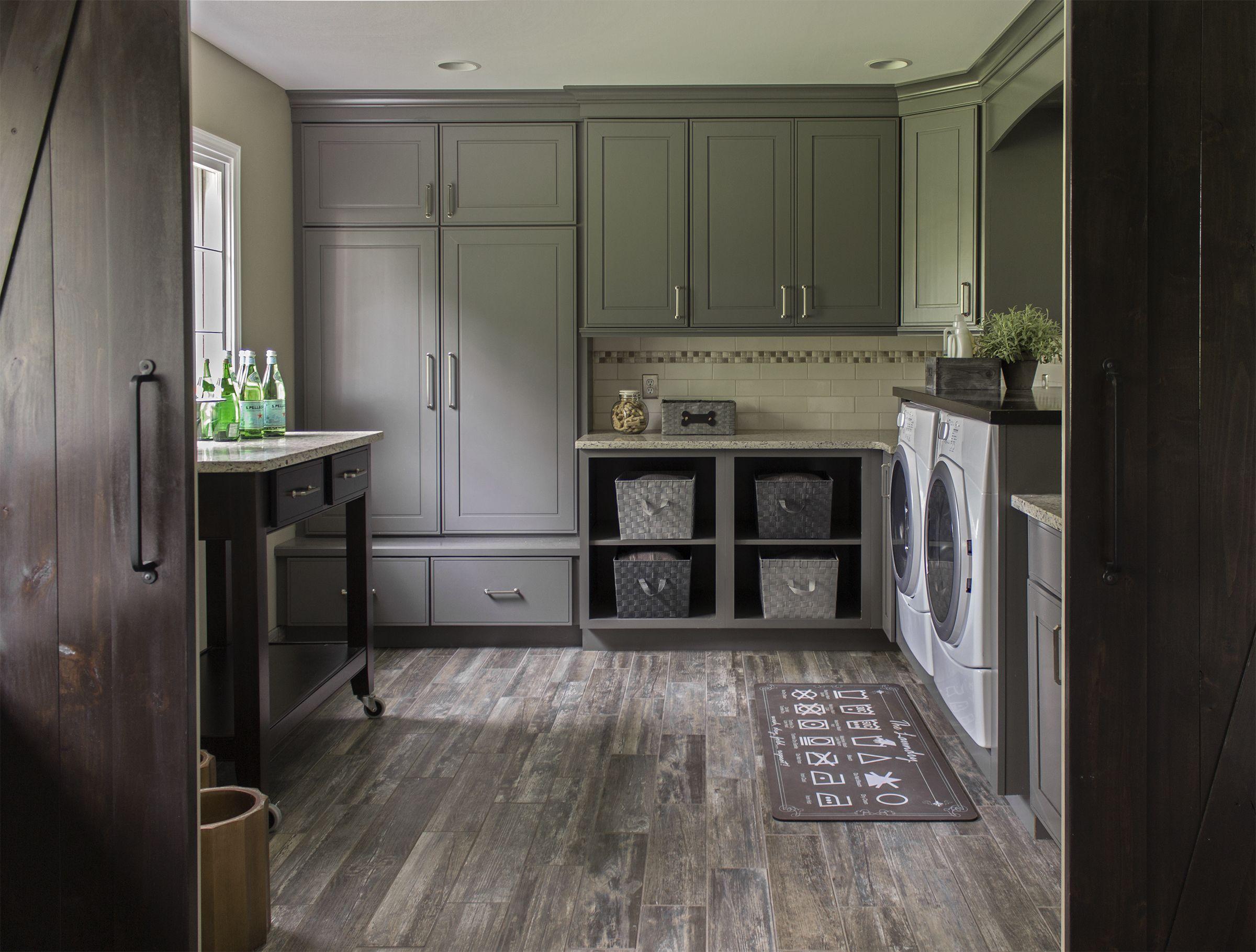 Photo Courtesy Of Jennifer Wilson Ksi Designer Merillat Masterpiece Gallina Maple In Greyloft Laundry Mud Room
