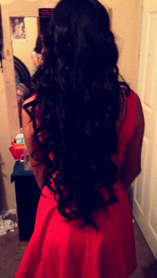 Long hair!! curled