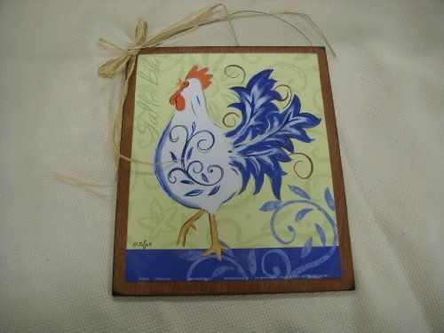 Gallo Blu Rooster French Kitchen Wooden Wall Art Sign Farm Decor By The  Little Store Of Home Decor. $11.99. Size 9x11; Made In The USA.