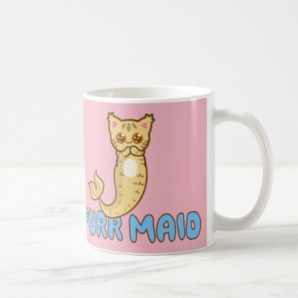 Cutest Purr Maid - Pink Cat Mermaid - Meowmaid Coffee Mug - cat cats kitten kitty pet love pussy