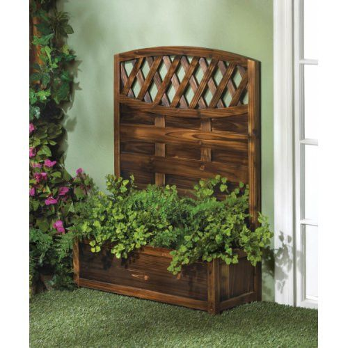 Gorgeous Wooden Trellis Planter Box Wake Up The Side Of Your House Garage Or Garden Wall With Planter Trellis Planter Box With Trellis Garden Planter Boxes
