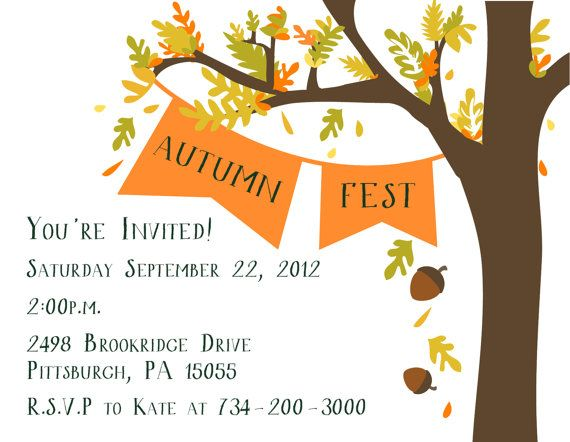 Fall Party Invitation by PaperPleaseStudio on Etsy 4000 oooo