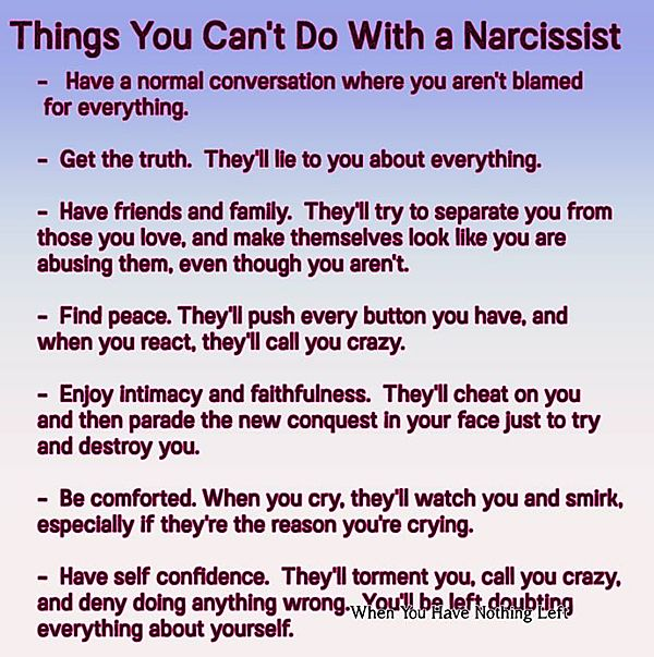 what should i do if boyfriend is narcissistic