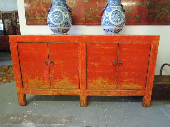 Antique Chinese Storage Credenza Or Console In By Modernredla