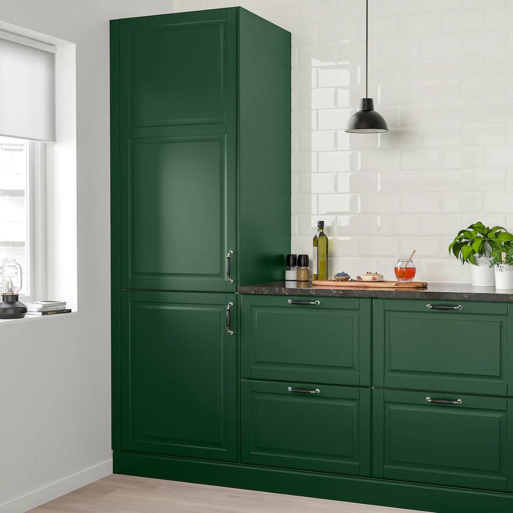 """BODBYN Door, dark green, 12x12"""" - IKEA  Green kitchen interior"""