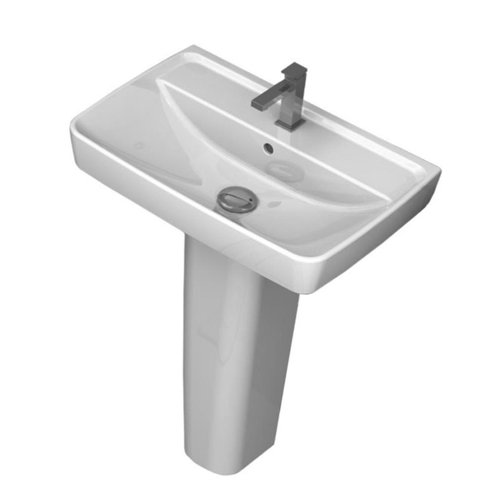 Nameeks Duru Pedestal Sink In White Pedestal Sink Sink Pedestal Sink Bathroom