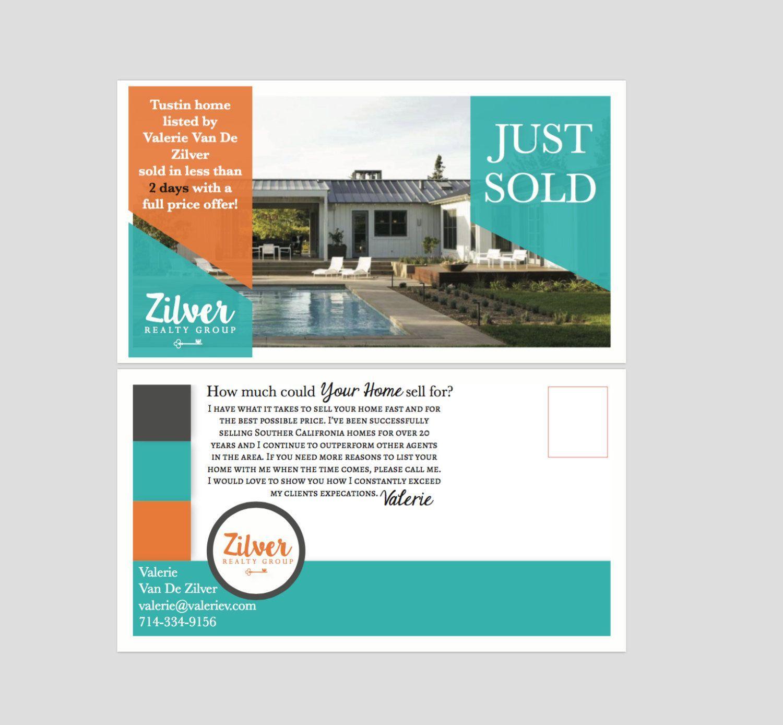 Realtor Real Estate Postcards SOLD Postcard Keller Williams EDDM - Keller williams flyer templates