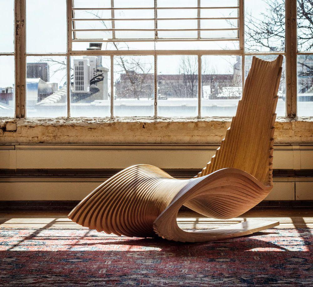 DIWANI rocking chair calligraphie par AE Superlab | Sillas, Madera y ...