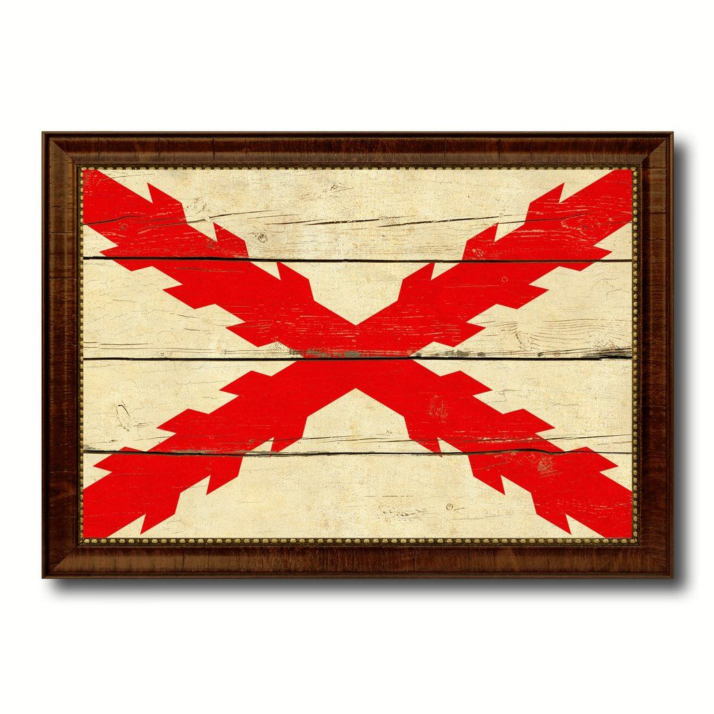 Spanish Ensign Spain Royal War Military Flag Vintage Canvas Print ...