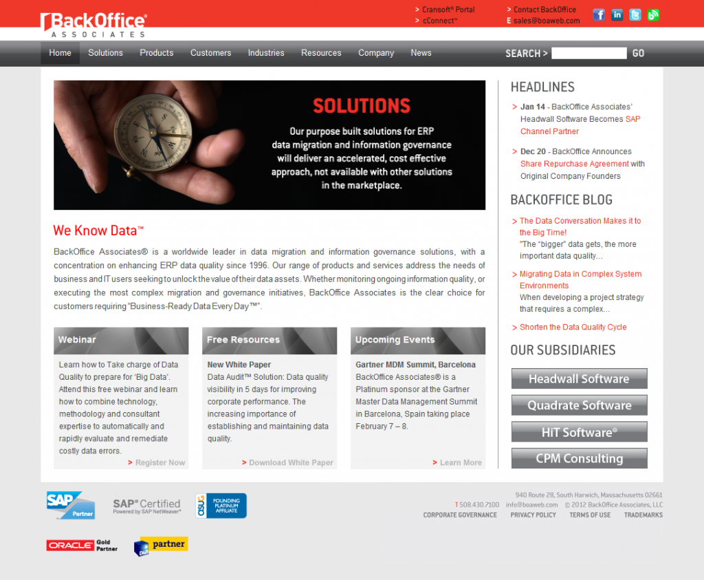 Backoffice Associates  Provides Software And Services Focusing