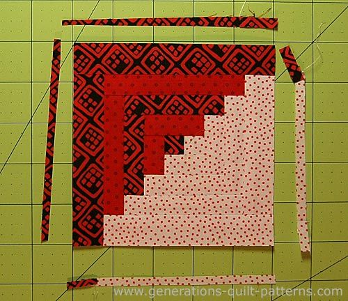 Easy Log Cabin Quilt Pattern: Paper Pieced to Perfection | Log ... : easy log cabin quilt pattern - Adamdwight.com