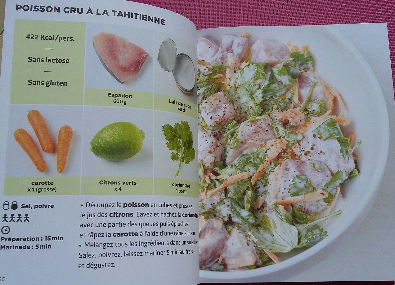 Poisson cru à la tahitienne   Recettes de cuisine, Idée recette ...