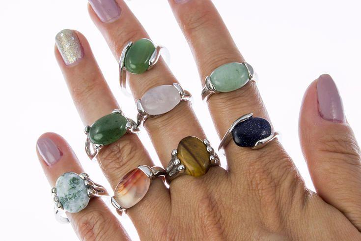 ebc997dcd Prsten polodrahokam - avanturín zelený | jewelry | Prsteny, Šperky ...