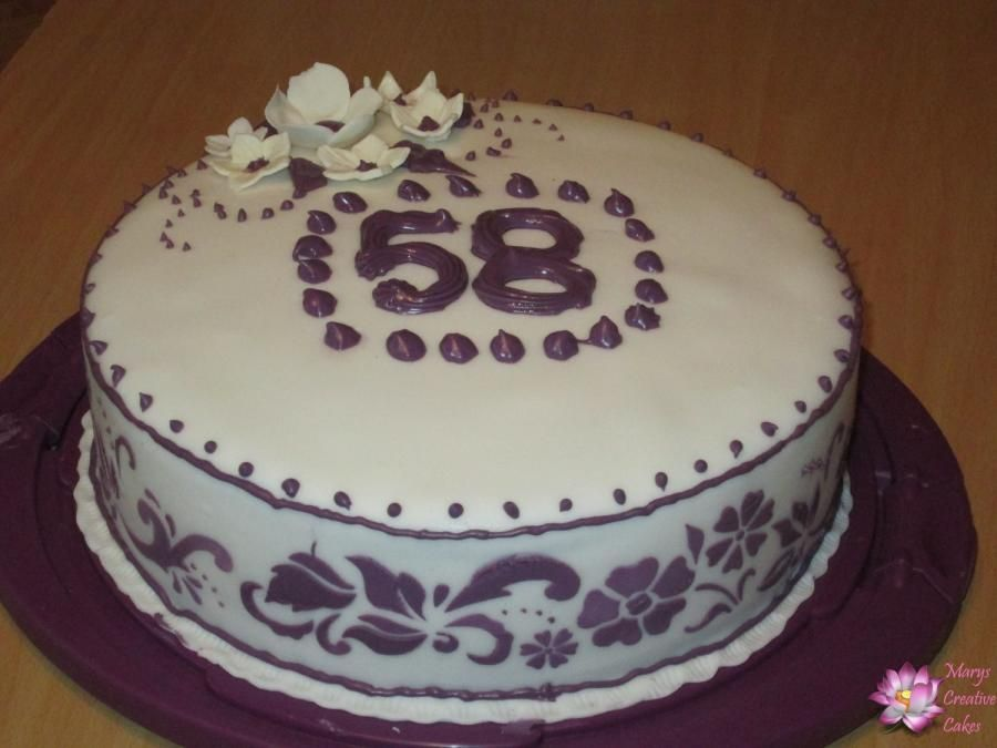 58th Birthday Cake Cake By Mary Yogeswaran Birthdays In 2018