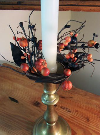 Halloween Candle Ring---such a great  accent piece