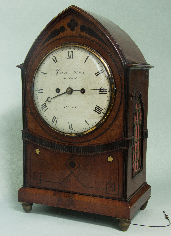 English Gothic Bracket Clock. Circa 1800