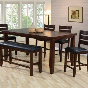 High Dining Room Table With Bench  Httpbehoovenpress Classy High Dining Room Table Decorating Design