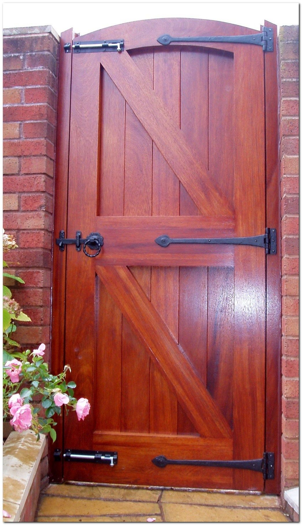 classic wooden gates will make your home look great for the