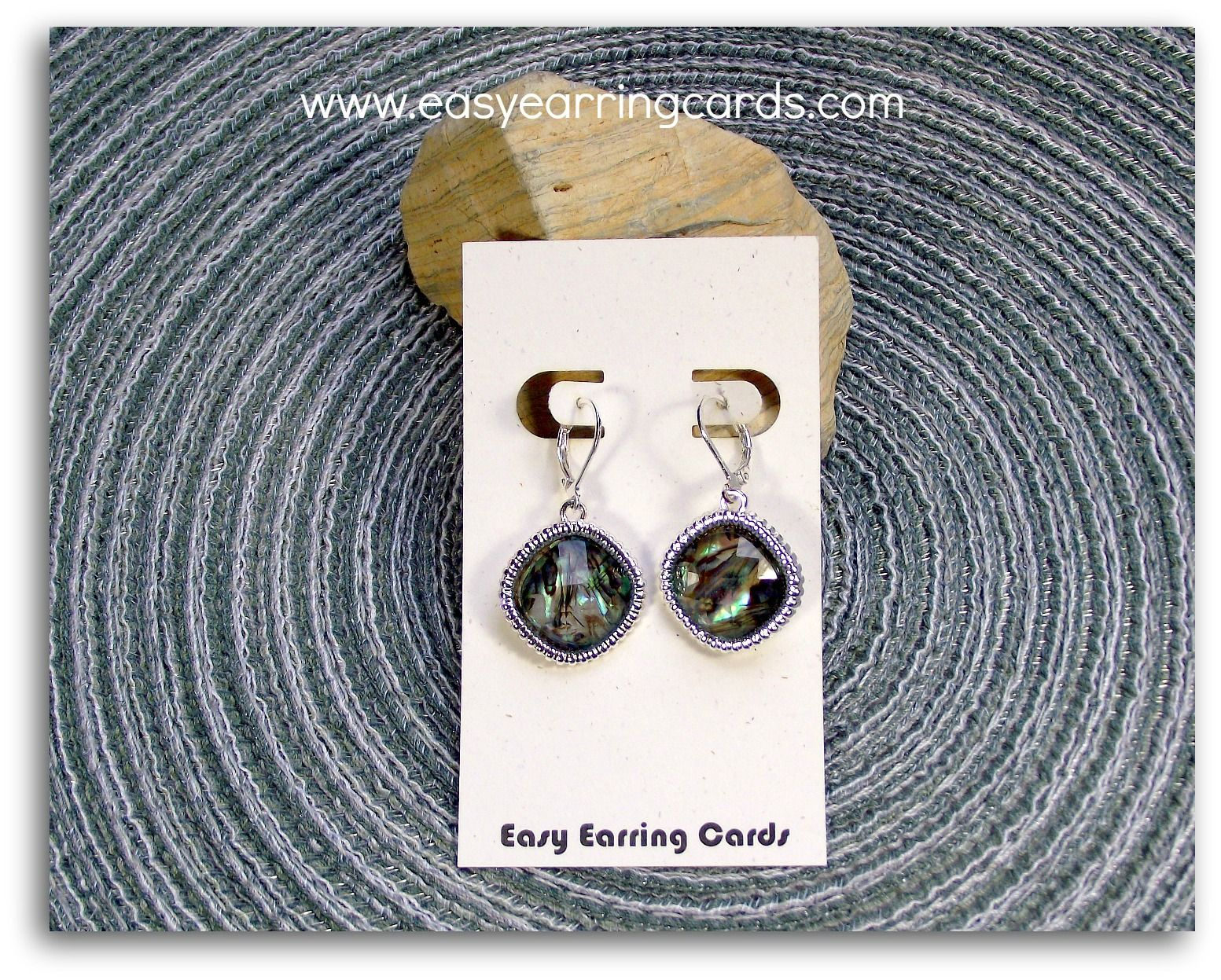Professional Style Earring Card Made With Printer And