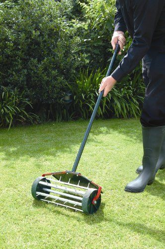 Bosmere W301 Rolling Lawn Aerator Steel Details Can Be