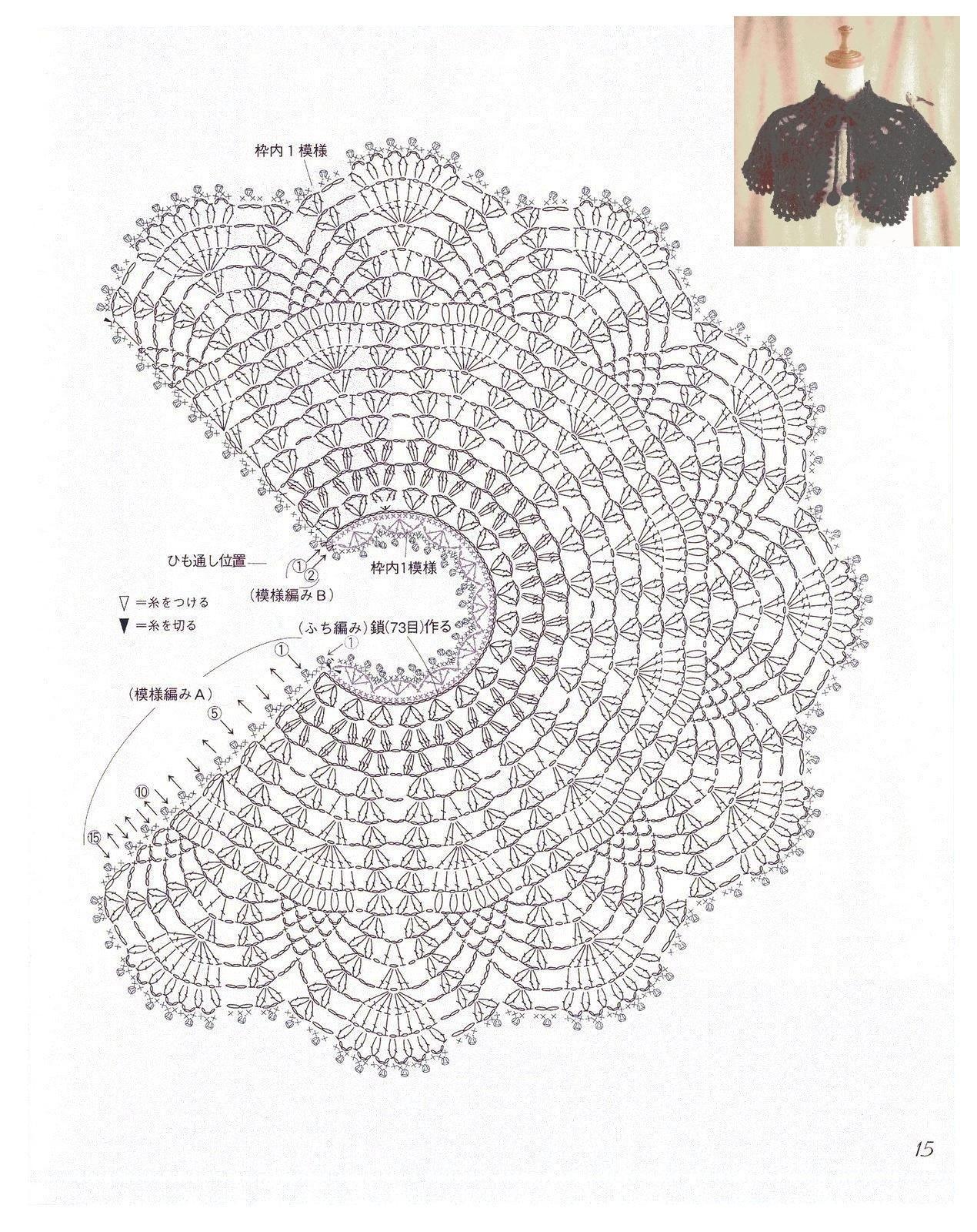 Black shawl with diagram | Tejidos | Pinterest | Capilla, Chal y Tejido
