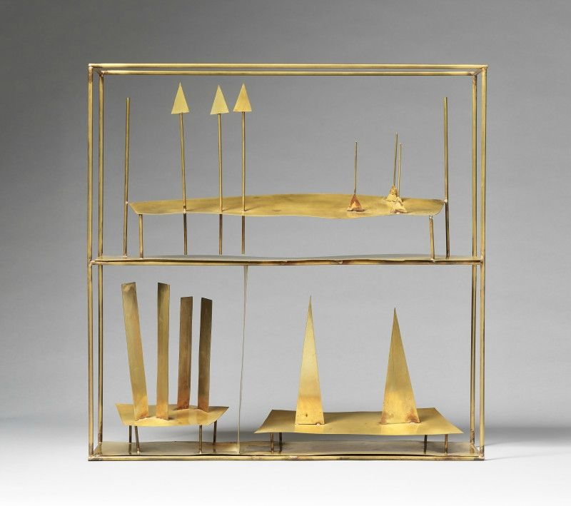 Fausto Melotti (Italian, 1901 - 1986)      Three Times, 1971 /       60 x 60 x 15 cm