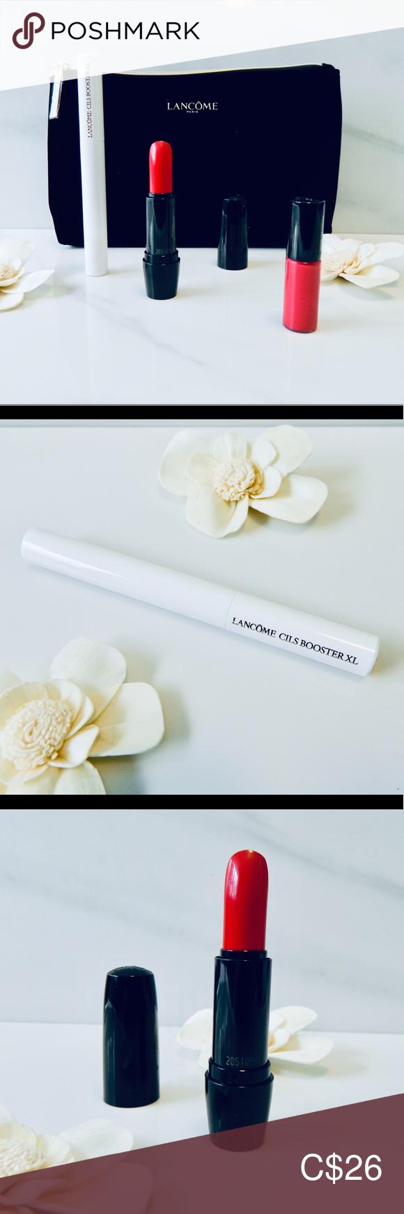 New Lancôme 2 Lip Products, Mascara Primer, Bag NWT in