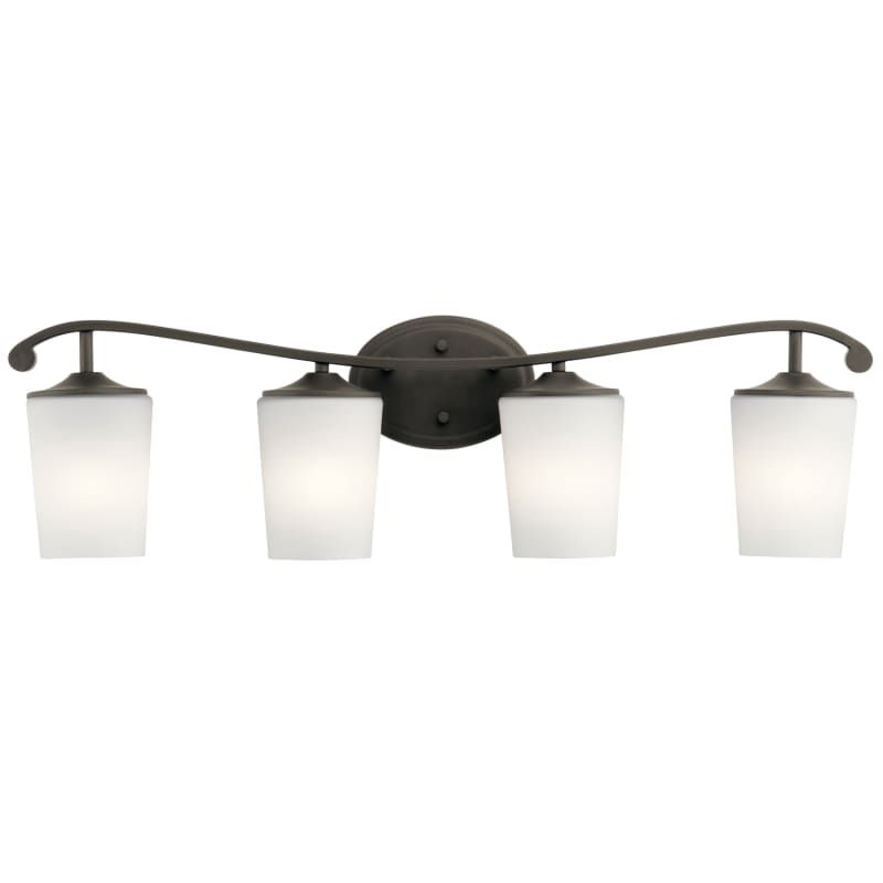 Kichler 45598 Versailles 4 Light Bathroom Vanity Light Olde Bronze Indoor Lighting Bathroom Fixtures Vanity Light