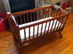 Jenny Lind Style Wood Bassinet Will Be Stalking Craigslist For One Wood Bassinet Finding A House Wood Cradle